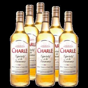 6 Bouteilles liqueur Charle